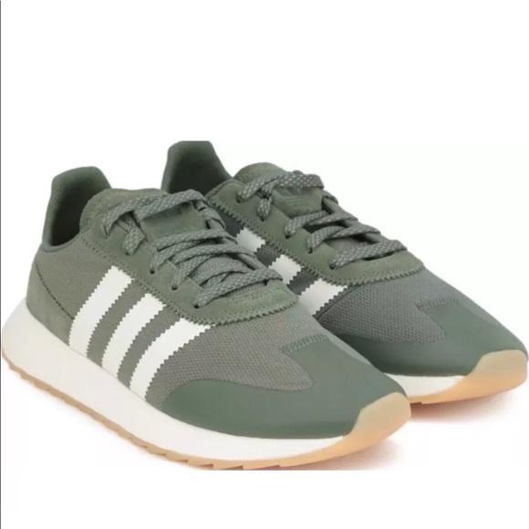 adidas Originals 70's Flashback FLB Women's Size 8 Dark Greenoff White By9303
